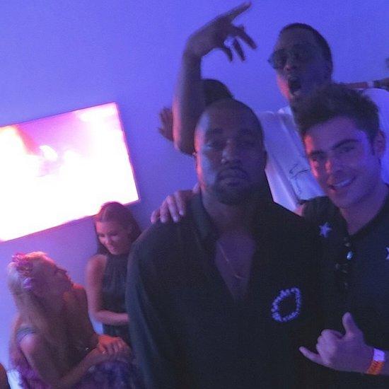Zac Efron and Kanye West in Ibiza | Photo
