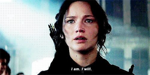 When She Declares Her Willingness to Lead in Mockingjay