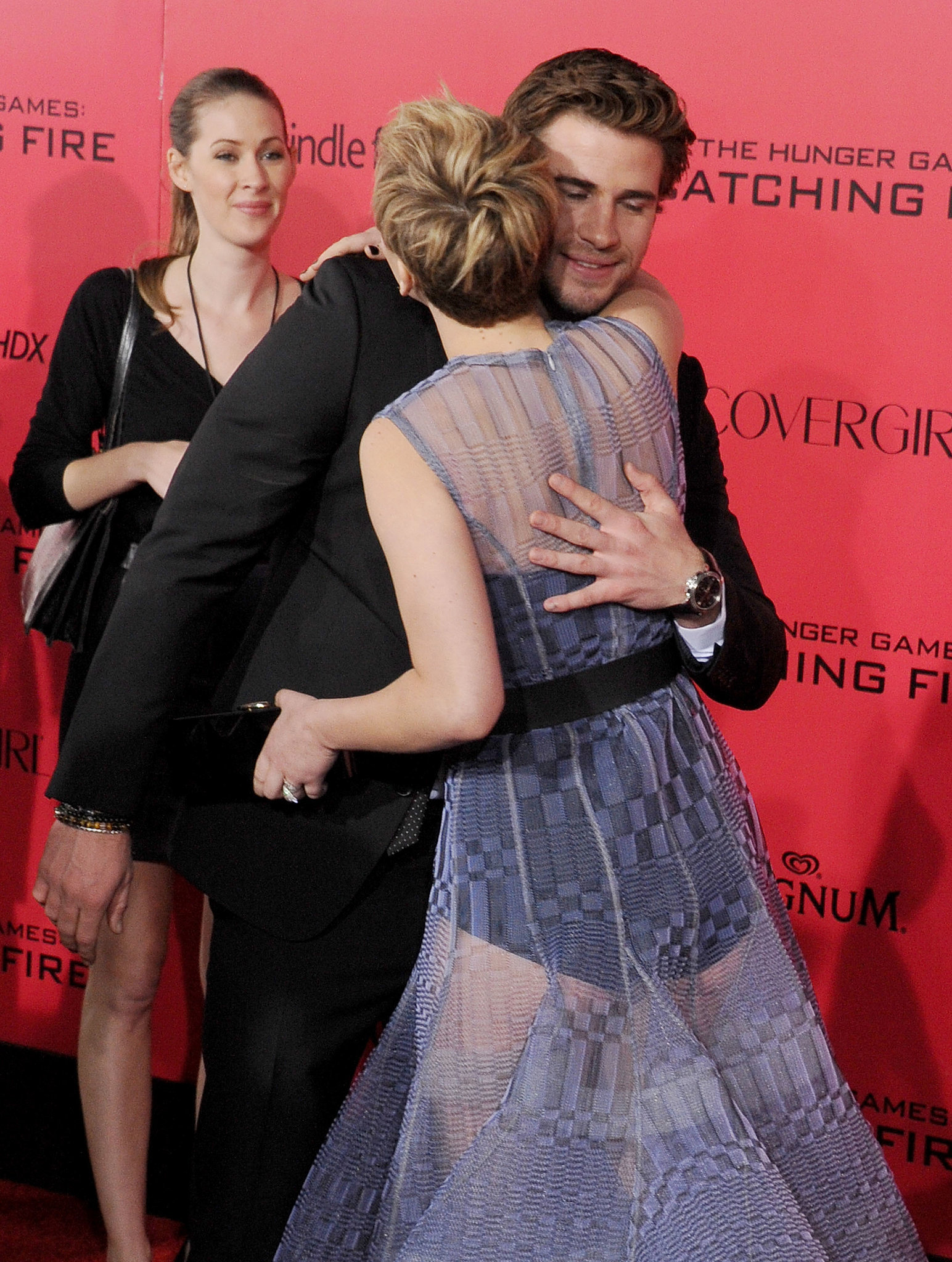 When Liam Hemsworth Leaned Over to Hug Her