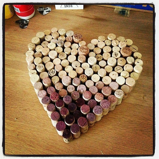 Conversely, you can just make an ombré heart to remember all the love (and wine) from the big day.
