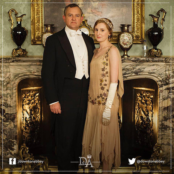 Robert Crawley (Hugh Bonneville) and Lady Edith (Laura Carmichael) looked period-appropriate in this portrait, but the water bottle in the background was not! Luckily, PBS realized their error and removed the picture from their social media outlets, but fans captured the image before it was taken down.