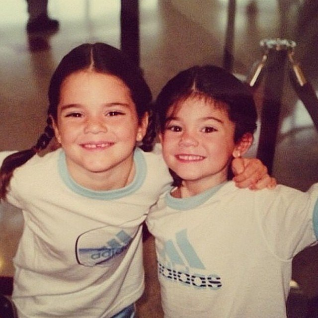 Kris Jenner shared this adorable snap of her youngest daughters, Kendall and Kylie, when they were little girls. Source: Instagram user krisjenner