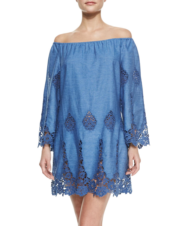 Miguelina Bridgette Floral Crochet Dress