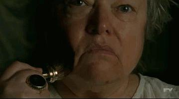 When Kathy Bates smeared human blood on her face as Madame Delphine LaLaurie.