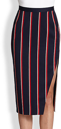 Altuzarra Striped Slit Skirt