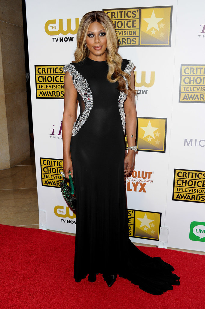 For the Critics' Choice Awards in June 2014, Laverne proved a black gown is anything but basic when its adorned in statement-making crystals.