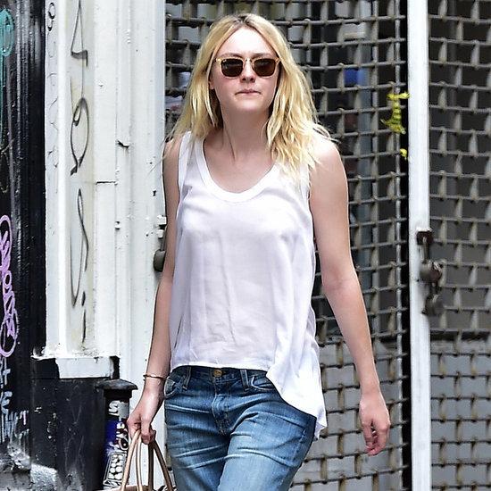 Dakota Fanning's Boyfriend Jeans | Street Style