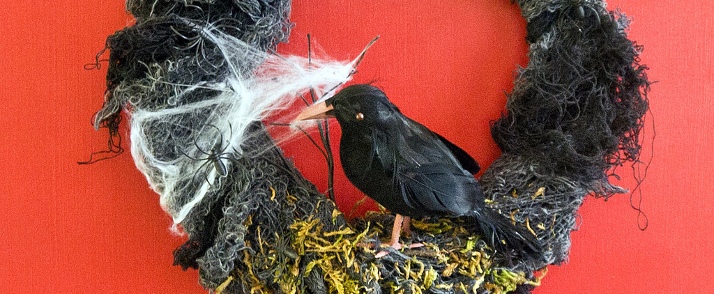 DIY This Nevermore Halloween Wreath For Less Than $10