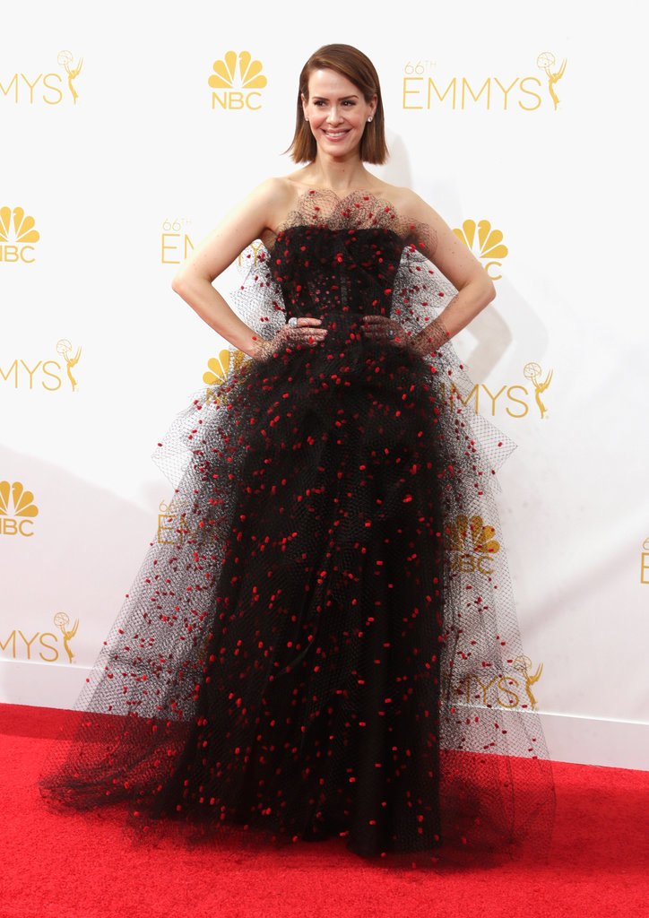 Sarah Paulson picked a gown with tons of personality.