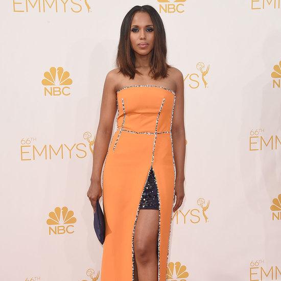 Kerry Washington's Orange Prada Dress at the 2014 Emmys