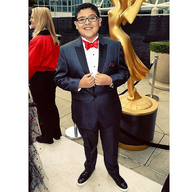 """""""I've arrived!"""" Rico Rodriguez said. The actor donned a tux we could totally see Modern Family's Manny wearing."""