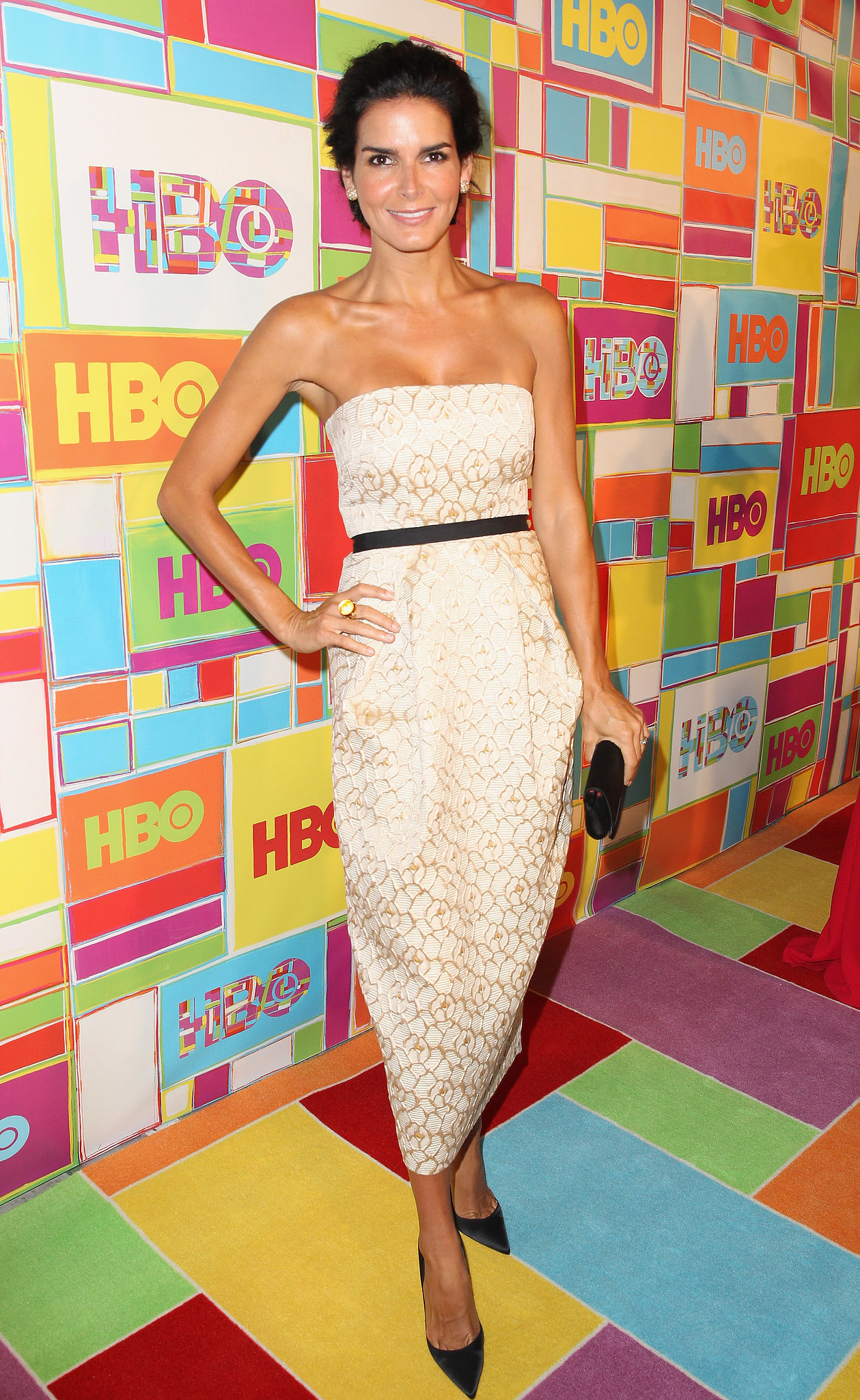 Angie Harmon hung out at the HBO Emmys afterparty.