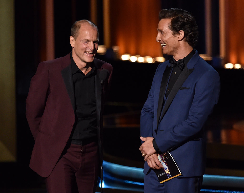 """""""I'm grateful you had all the plagiarized lines!"""" — Woody Harrelson, alluding to the True Detective plagiarism scandal"""