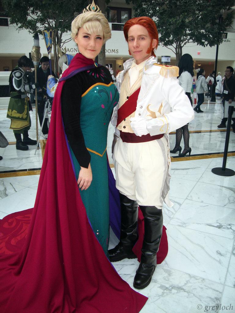 disfraz en pareja Elsa y Hans