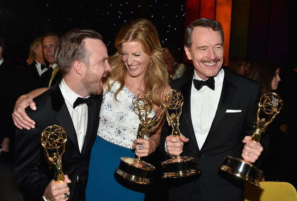 Aaron Paul, Anna Gunn, and Bryan Cranston couldn't contain their excitement after Breaking Bad's many wins.