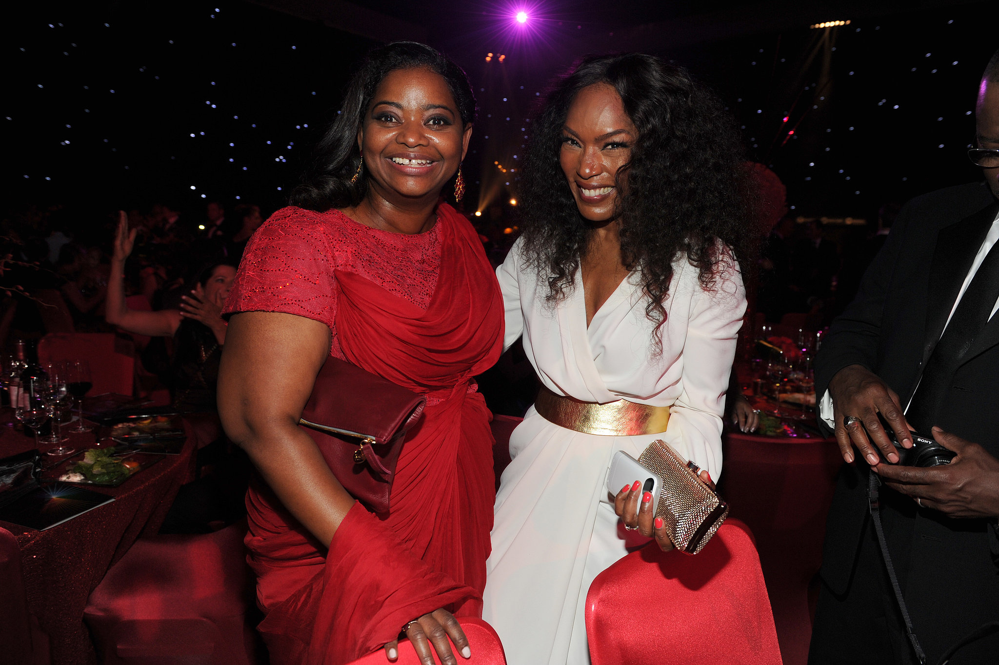 Octavia Spencer and Angela Bassett were all smiles at the Governors Ball.