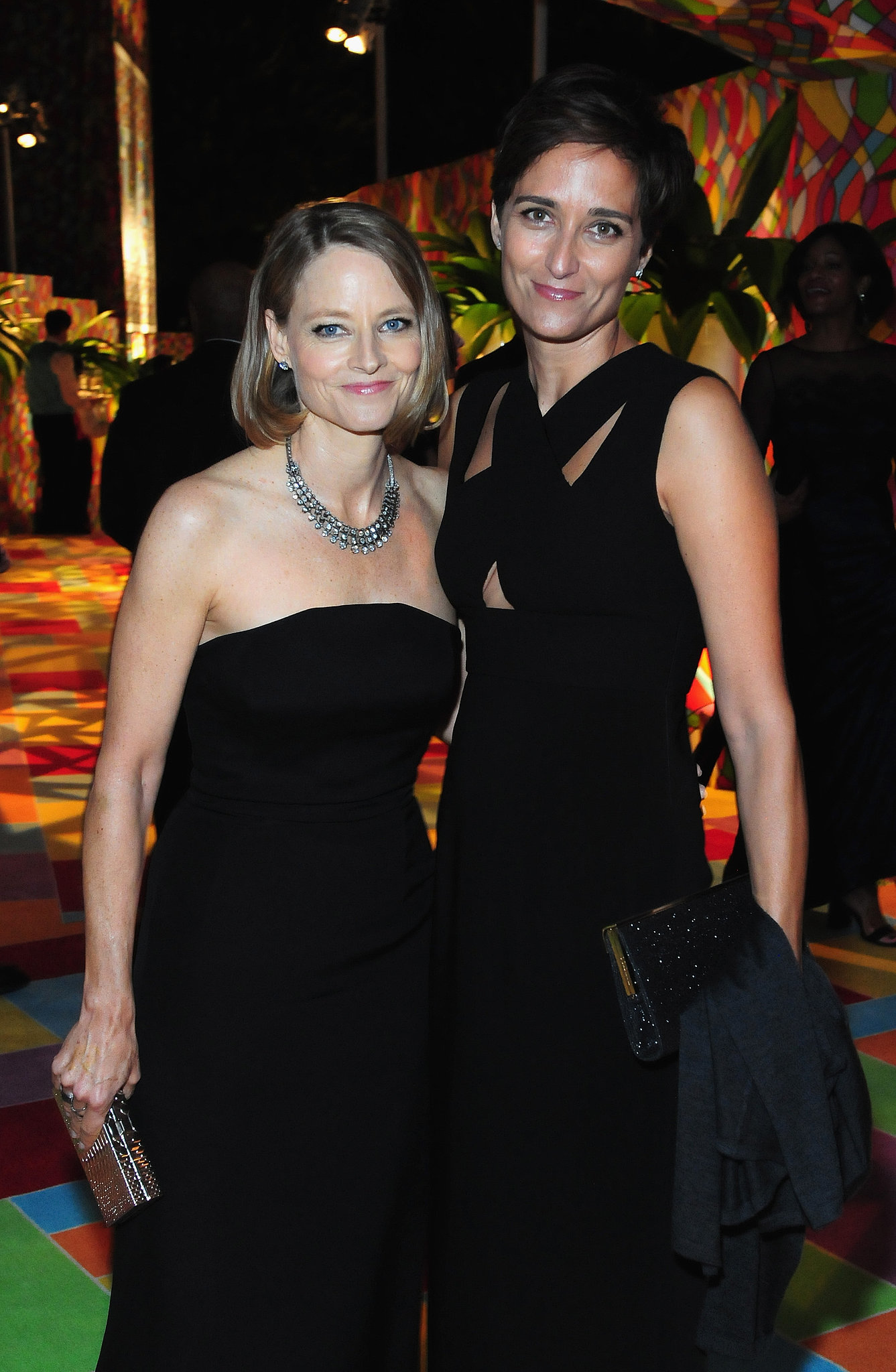 Jodie Foster and her wife, Alexandra Hedison, posed inside