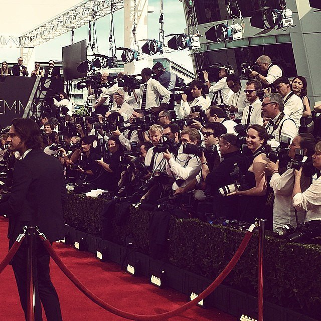 What's it like right before Kerry Washington takes over the red carpet? She showed us with this picture.