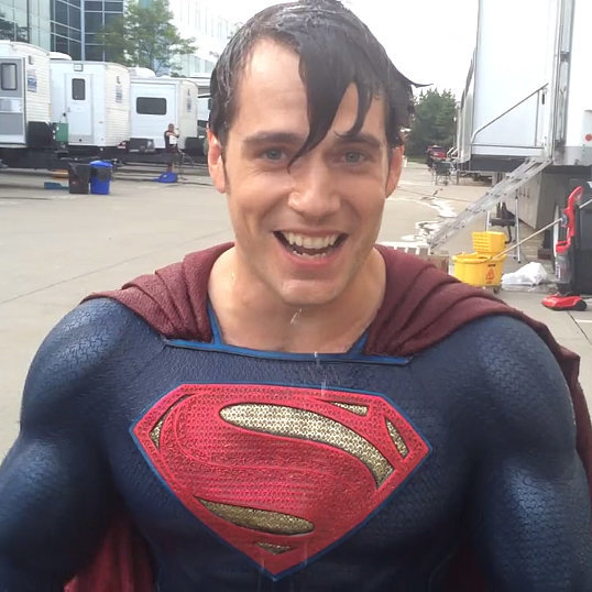 Henry Cavill Does the Ice Bucket Challenge in Superman Suit