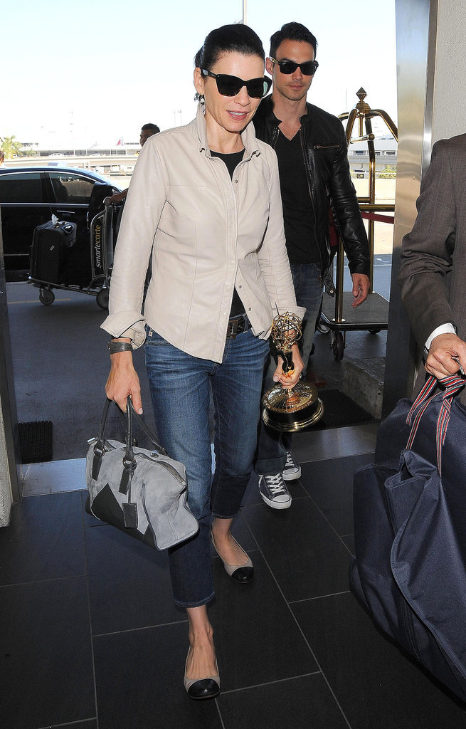 Julianna Margulies Shows Us How to Travel With an Emmy