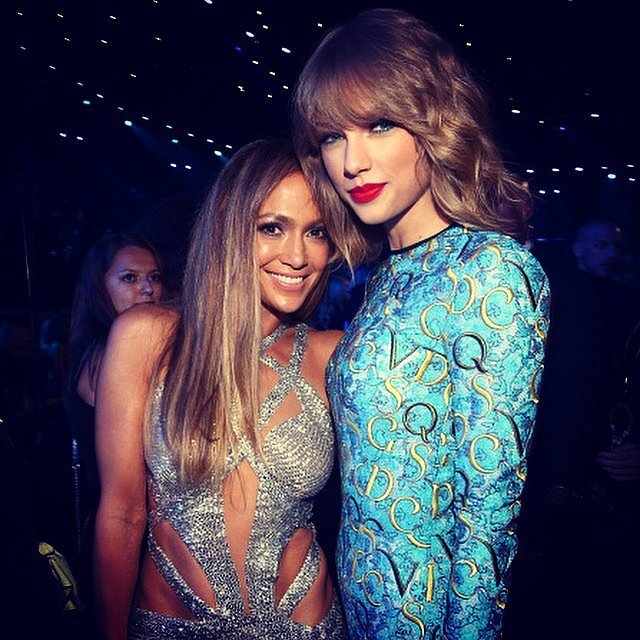 Jennifer Lopez and Taylor Swift took a photo together during the VMAs. Source: Instagram user jlo