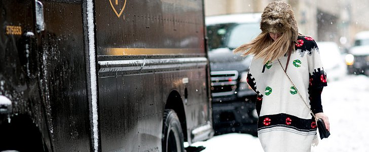 Flashback Friday: NYFW Street Style Stars Trekked Through the Snow For Fashion
