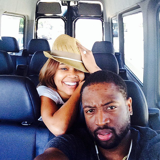 Gabrielle and Dwyane were all smiles during a road trip in August 2014.