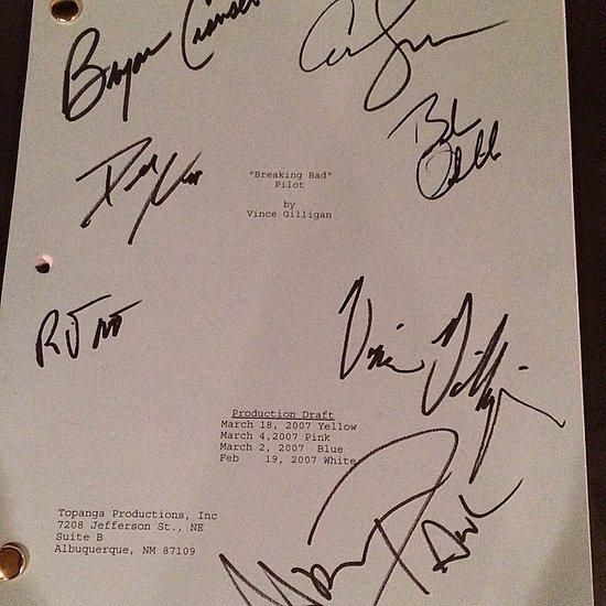 Aaron Paul Gives Away Breaking Bad Pilot Script