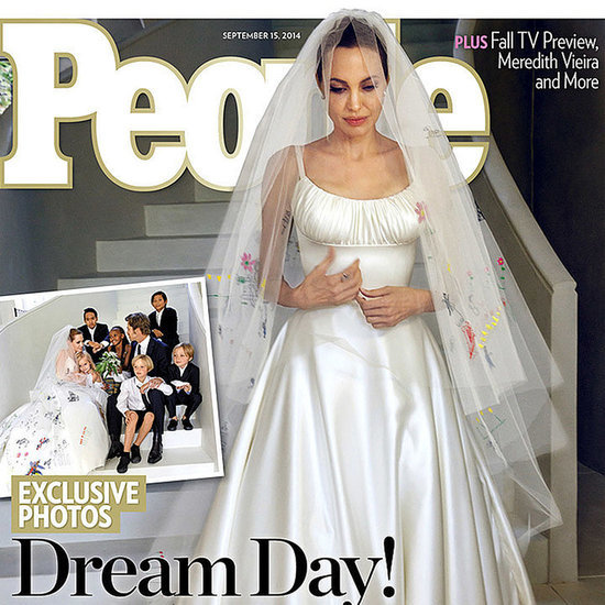 Pictures of Angelina Jolie Wearing Versace