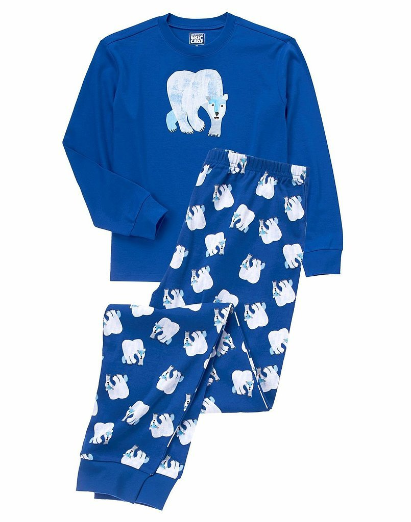 While the design of this polar bear sleepwear ($27) is ice-cold, your child will be nice and warm for bedtime.