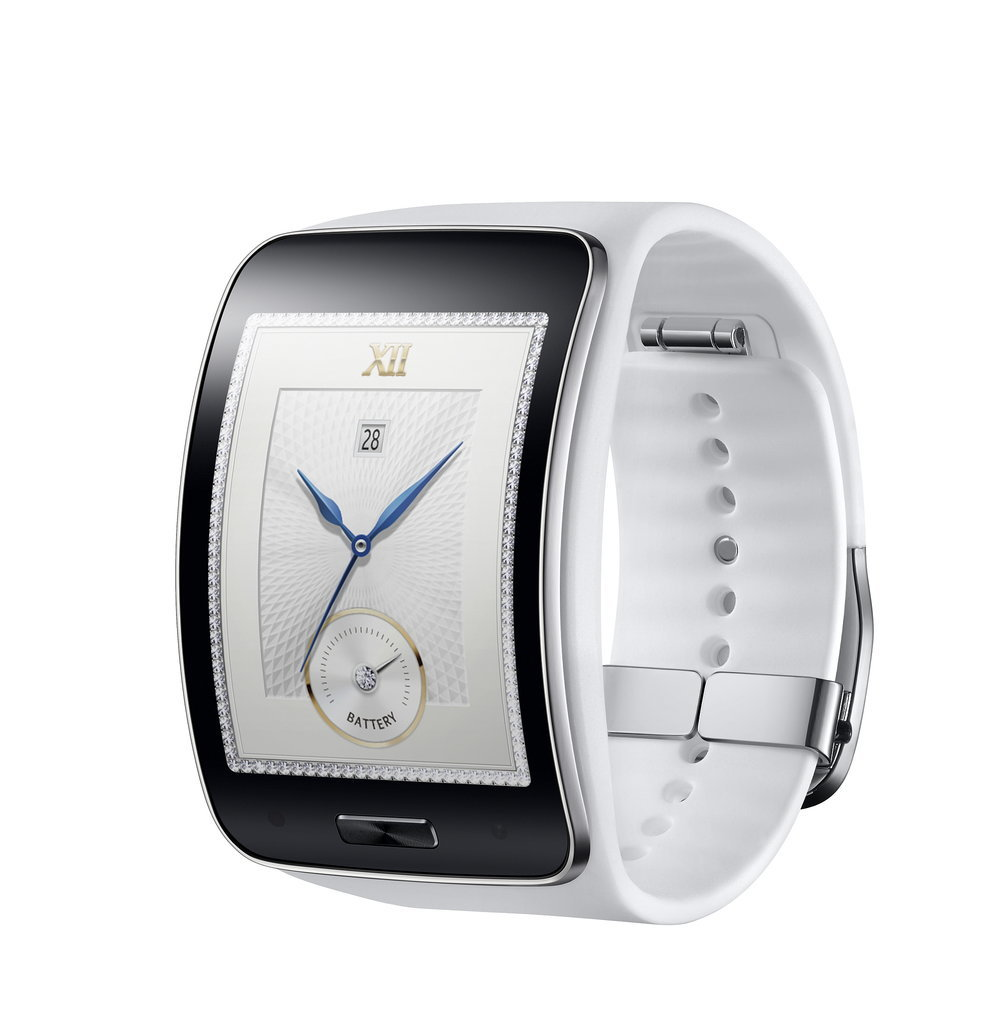 The white version of the Gear S is pretty classy. Source: Samsung