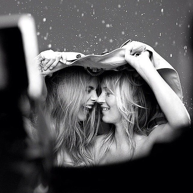 Cara Delevingne and Kate Moss were shot together for a campaign.