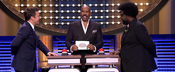 Steve Harvey Turns The Tonight Show Into Family Feud, and It's Awesome