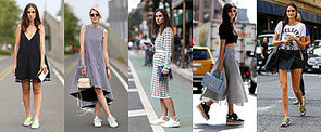 This NYC Street Style Trend Is Tugging at Our Comfort-Conscious Hearts