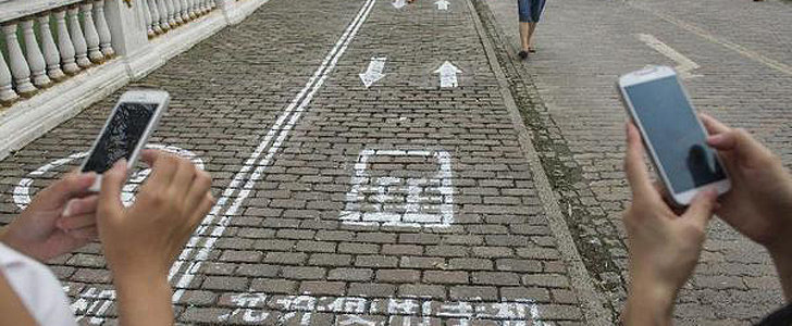 FYI, Cell-Phone-Only Sidewalk Lanes Now Exist