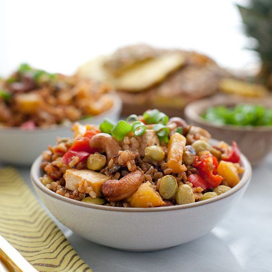 Oven-Baked Pineapple Fried Rice With Cashews and Tofu