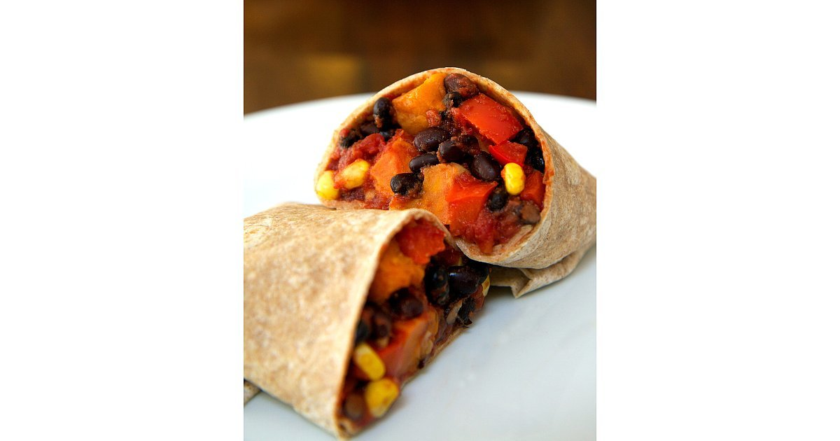 Roasted Sweet Potato and Black Bean Burrito | The 75 Healthy Dinners ...