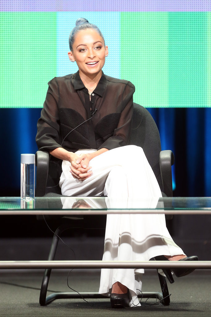 Nicole promoted her VH1 reality show #CandidlyNicole at the Summer TCA Tour in LA in July 2014.
