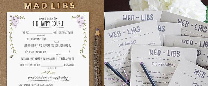 14 Free, Fun, and Printable Wedding Mad Libs