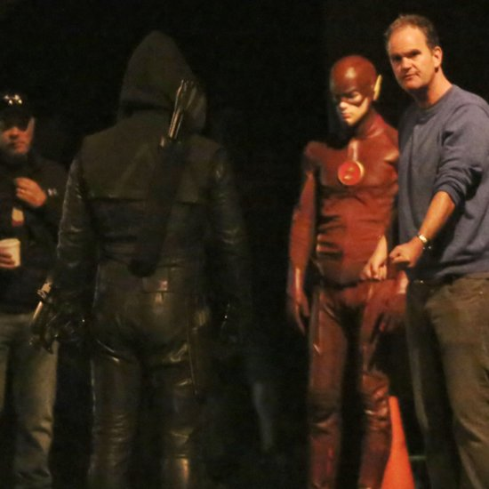 The Flash/Arrow Crossover Set Pictures