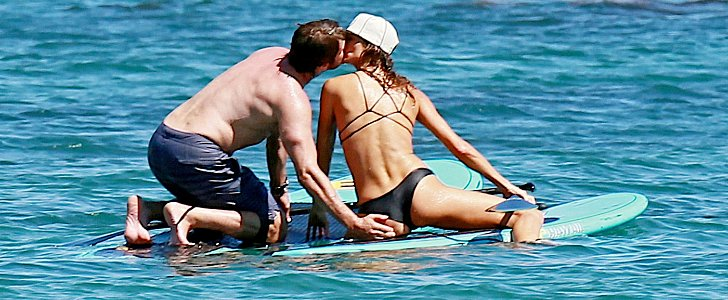 Gerard Butler Gets a Handful of His Mystery Brunette on the Beach