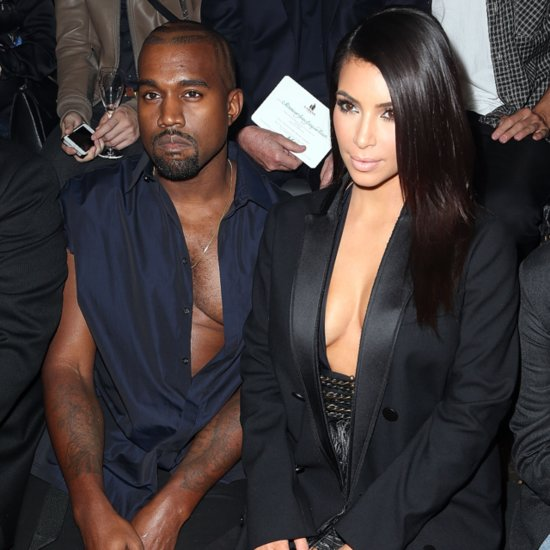 Kim Kardashian And Kanye West Cleavage At Paris Fashion Week