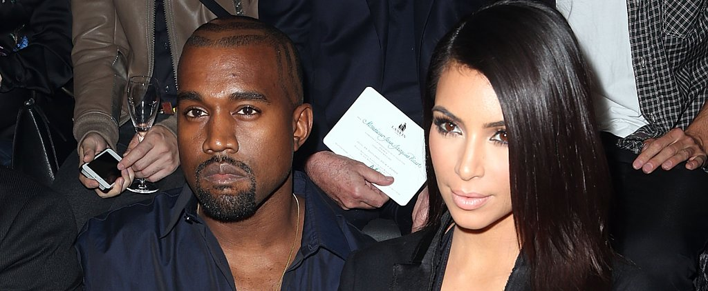 Kim Kardashian's Cleavage-Baring Ways Have Really Rubbed Off on Kanye