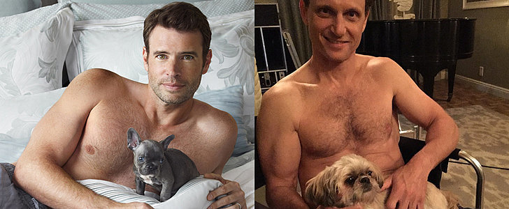 Swoon Over Shirtless Scandal Stars Holding Crazy-Cute Puppies