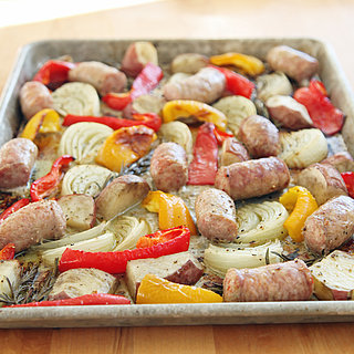 Roasted Italian Sausage With Onions and Peppers