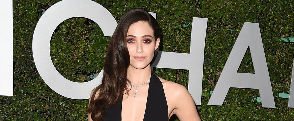 Emmy Rossum's Smoky Eye Is Your Go-To Party Look This Fall