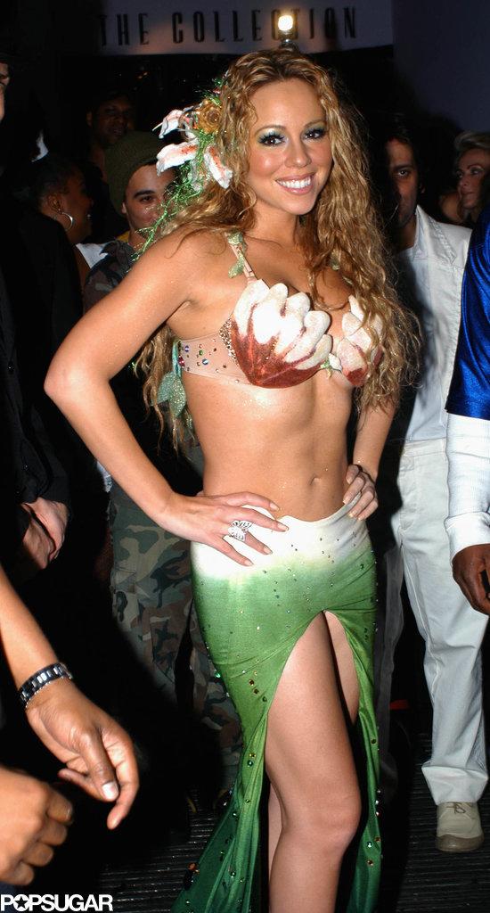 Mariah Carey Real Life Mermaid Halloween Party on Fall Halloween