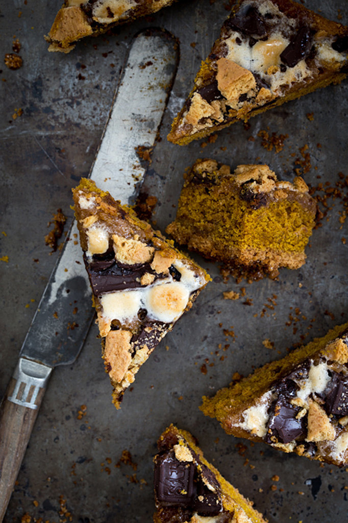 Pumpkin S'mores Blondies
