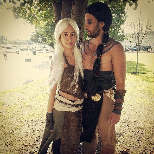 Khal drogo and daenerys targaryen 60 sexy halloween for Game of thrones daenerys costume diy