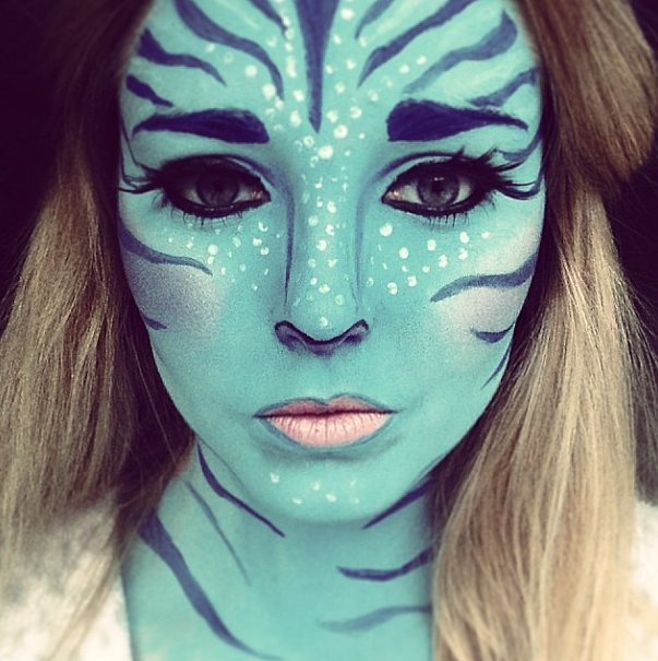 Avatar Fanatic 13 Terrifyingly Cool Face Paint Looks to - Cool Halloween Face Makeup